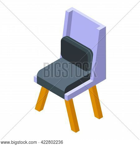Textile Chair Icon. Isometric Of Textile Chair Vector Icon For Web Design Isolated On White Backgrou