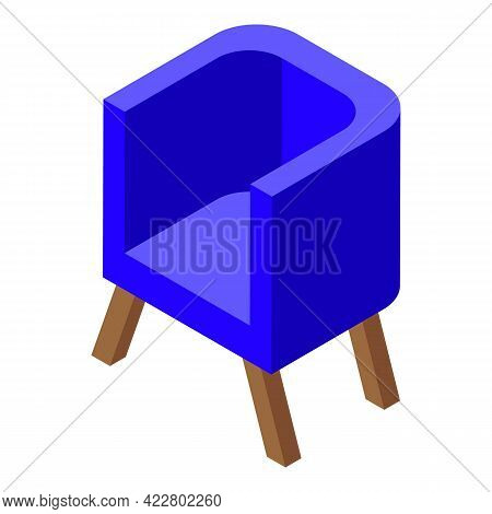 Modern Armchair Icon. Isometric Of Modern Armchair Vector Icon For Web Design Isolated On White Back