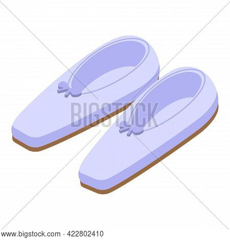 Ballet Shoes Icon. Isometric Of Ballet Shoes Vector Icon For Web Design Isolated On White Background