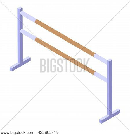 Ballet School Bars Icon. Isometric Of Ballet School Bars Vector Icon For Web Design Isolated On Whit