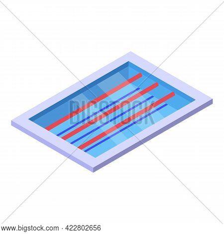 Synchronized Swimming Pool Icon. Isometric Of Synchronized Swimming Pool Vector Icon For Web Design