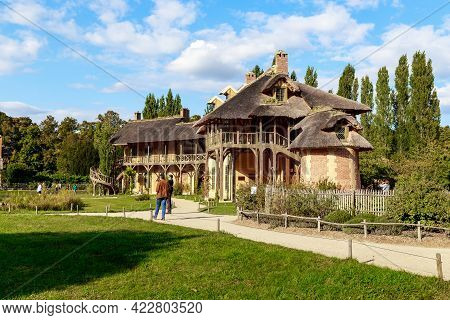 Versailles, France - September 8, 2019: This Is The Queen House In The Village Of Queen On The Trian
