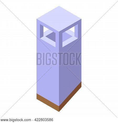 White Chimney Icon. Isometric Of White Chimney Vector Icon For Web Design Isolated On White Backgrou
