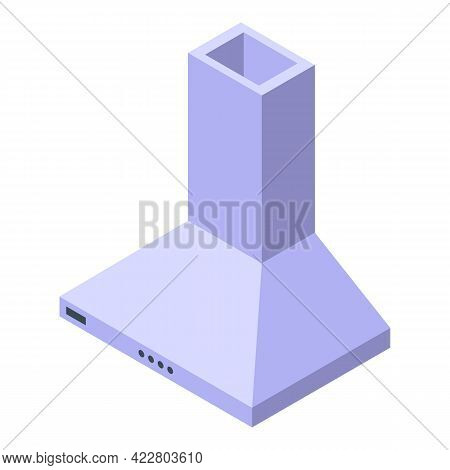 Kitchen Chimney Icon. Isometric Of Kitchen Chimney Vector Icon For Web Design Isolated On White Back