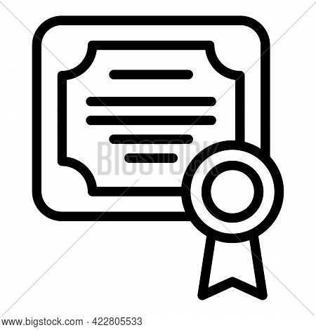 Bank Diploma Icon. Outline Bank Diploma Vector Icon For Web Design Isolated On White Background