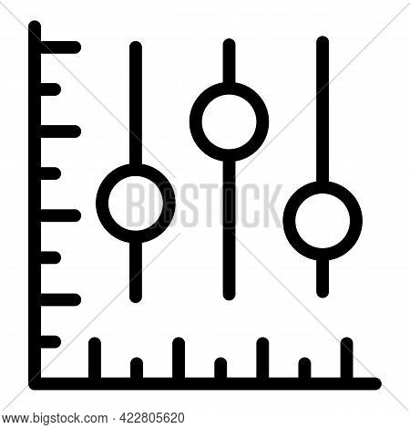 Commerce Graph Icon. Outline Commerce Graph Vector Icon For Web Design Isolated On White Background
