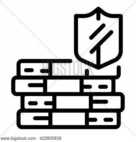 Deposit Room Cash Icon. Outline Deposit Room Cash Vector Icon For Web Design Isolated On White Backg