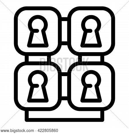 Deposit Room Key Icon. Outline Deposit Room Key Vector Icon For Web Design Isolated On White Backgro