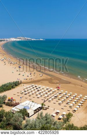 Beach near Vieste, National park Gargano, Apulia, Italy