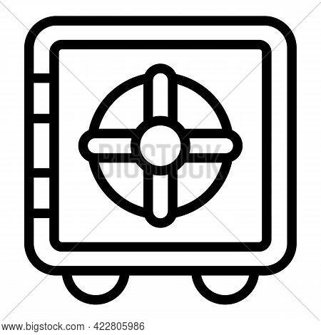 Deposit Room Big Safe Icon. Outline Deposit Room Big Safe Vector Icon For Web Design Isolated On Whi