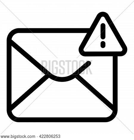 Blacklist Important Mail Icon. Outline Blacklist Important Mail Vector Icon For Web Design Isolated