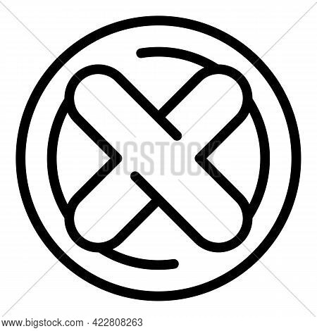 Filter Search Denied Icon. Outline Filter Search Denied Vector Icon For Web Design Isolated On White