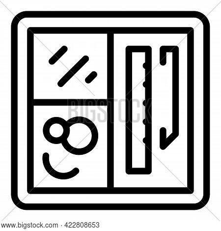 Haberdashery Instrument Icon. Outline Haberdashery Instrument Vector Icon For Web Design Isolated On