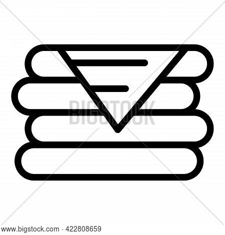 Textile Stack Icon. Outline Textile Stack Vector Icon For Web Design Isolated On White Background