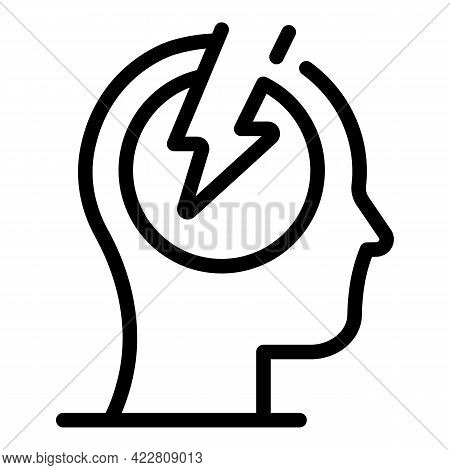 Fast Brainstorming Icon. Outline Fast Brainstorming Vector Icon For Web Design Isolated On White Bac
