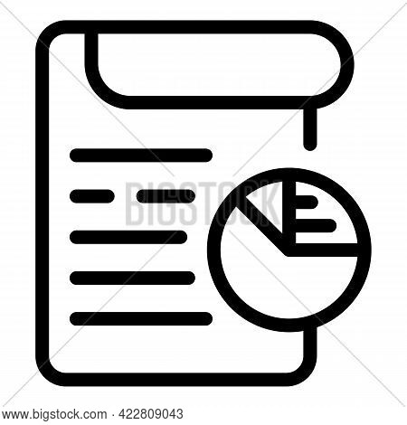 Brainstorming Document Icon. Outline Brainstorming Document Vector Icon For Web Design Isolated On W
