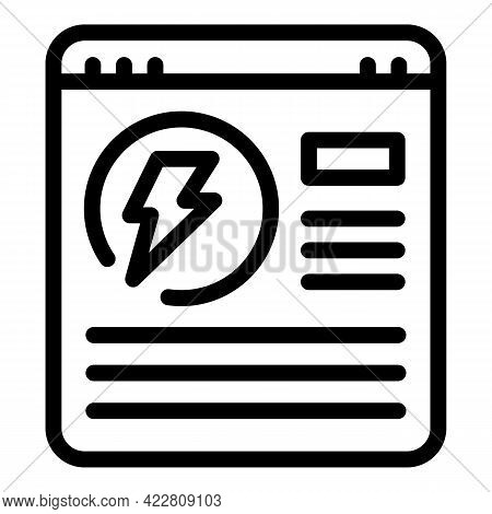 Brainstorming Web Page Icon. Outline Brainstorming Web Page Vector Icon For Web Design Isolated On W