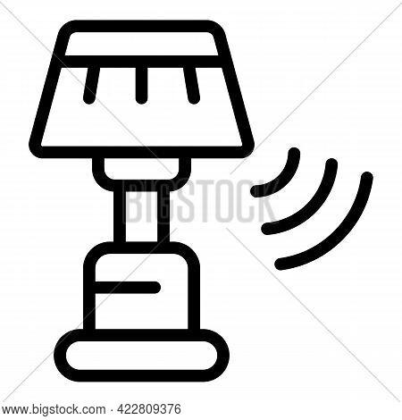 Lamp Smart Lightbulb Icon. Outline Lamp Smart Lightbulb Vector Icon For Web Design Isolated On White