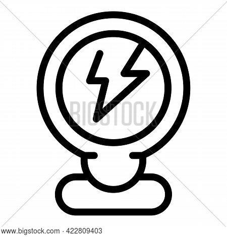 Technology Smart Lightbulb Icon. Outline Technology Smart Lightbulb Vector Icon For Web Design Isola