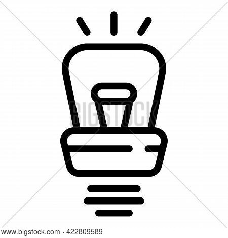 Solution Smart Lightbulb Icon. Outline Solution Smart Lightbulb Vector Icon For Web Design Isolated