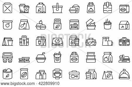 Take Away Food And Drinks Icon. Outline Take Away Food And Drinks Vector Icon For Web Design Isolate