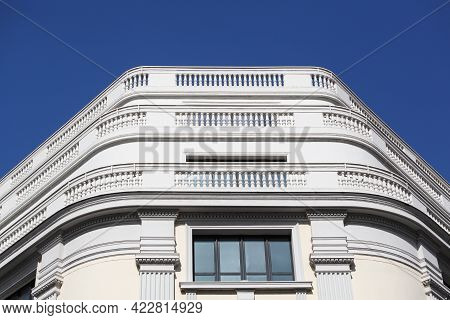 Art Deco Building, President Edouard Herriot Street In Lyon, France