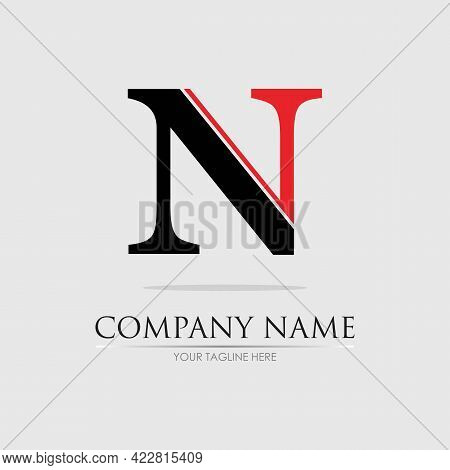 Letter N Business Corporate Abstract Unity Vector Logo Design Template