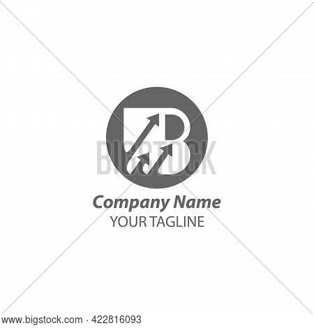 Letter B And Arrow Logo Design Vector. Abstract Logo Design. Type Logo For Business.eps 10