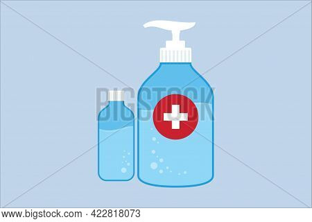 Hand Sanitizer Icon Isolated On Blue Background From Coronavirus Collection. Hand Sanitizer Icon Thi