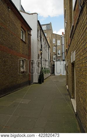 View Along The Pedestrian Only Narrow Grotto Passage Built In Victorian Times In Marylebone, Central