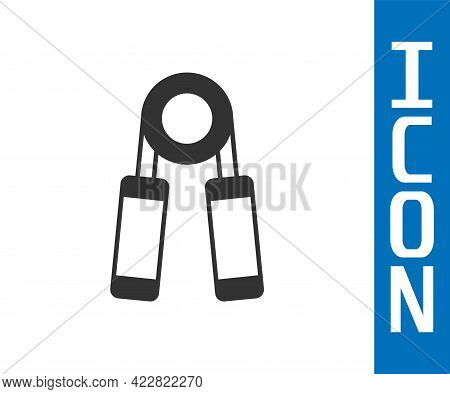 Grey Sport Expander Icon Isolated On White Background. Sport Equipment. Vector