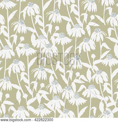 Vector Cosmos Flower Illustration Motif Seamless Repeat Pattern Digital File Pattern Artwork Fashion
