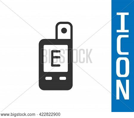 Grey Light Meter Icon Isolated On White Background. Hand Luxmeter. Exposure Meter - A Device For Mea