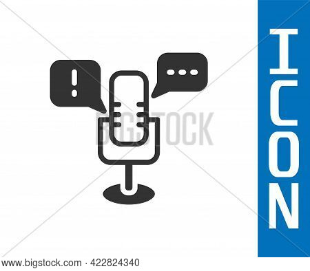 Grey Freedom Of Speech Icon Isolated On White Background. Freedom Of Expression. Vector