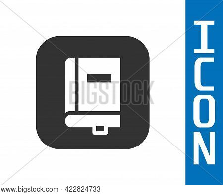 Grey Law Book Icon Isolated On White Background. Legal Judge Book. Judgment Concept. Vector