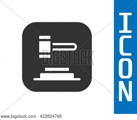 Grey Judge Gavel Icon Isolated On White Background. Gavel For Adjudication Of Sentences And Bills, C