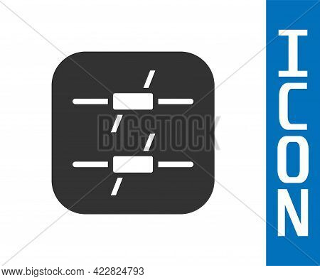 Grey Barbed Wire Icon Isolated On White Background. Vector