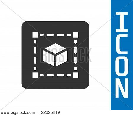 Grey Geometric Figure Cube Icon Isolated On White Background. Abstract Shape. Geometric Ornament. Ve