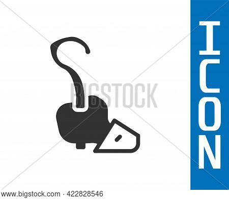 Grey Magic Staff Icon Isolated On White Background. Magic Wand, Scepter, Stick, Rod. Vector