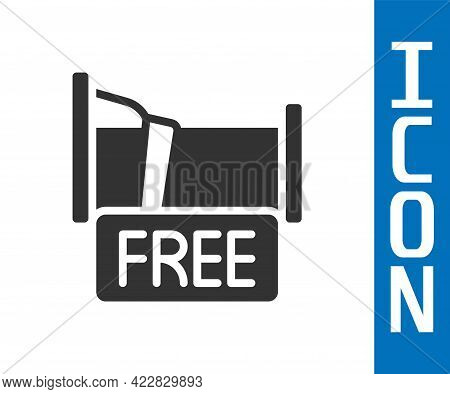 Grey Free Overnight Stay House Icon Isolated On White Background. Vector