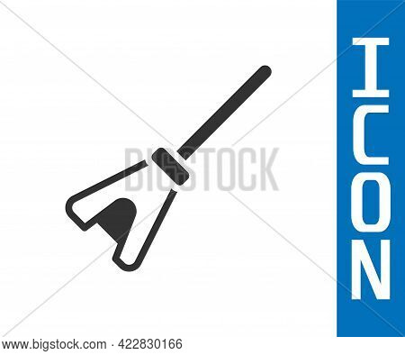 Grey Mop Icon Isolated On White Background. Cleaning Service Concept. Vector