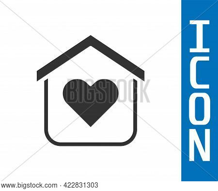 Grey Shelter For Homeless Icon Isolated On White Background. Emergency Housing, Temporary Residence