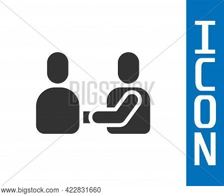 Grey Happy Friendship Day Icon Isolated On White Background. Everlasting Friendship Concept. Vector