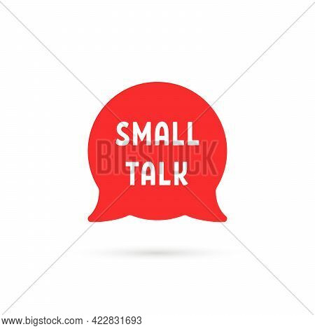 Red Small Talk Simple Speech Bubble. Flat Minimal Style Trend Popup Logotype Graphic Design Isolated