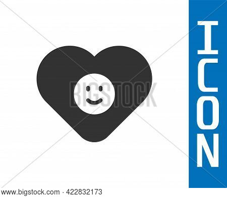 Grey Good Relationship Icon Isolated On White Background. Romantic Relationship Or Pleasant Meeting