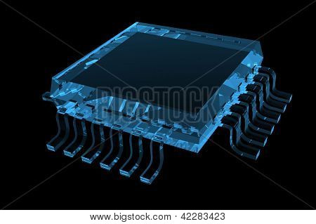 Chip 3D X-Ray Blue Transparent