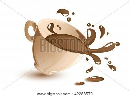 Splashing coffee