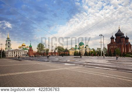 Central Square Of City Of Tula. View Of Tula Kremlin And Temples Of Former Assumption Monastery - Th