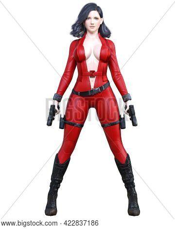 3D Comics Cosplay Woman.