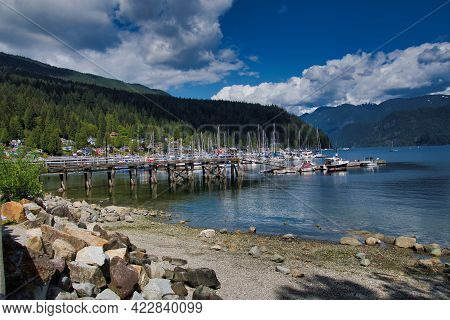 A Seascape View Of  Deep Cove.     North Vancouver Bc Canada
